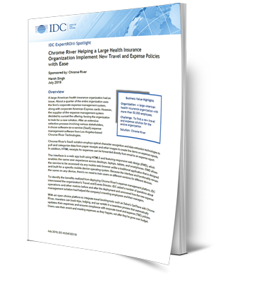 IDC ROI Case Study - Travel and Expense Management Software